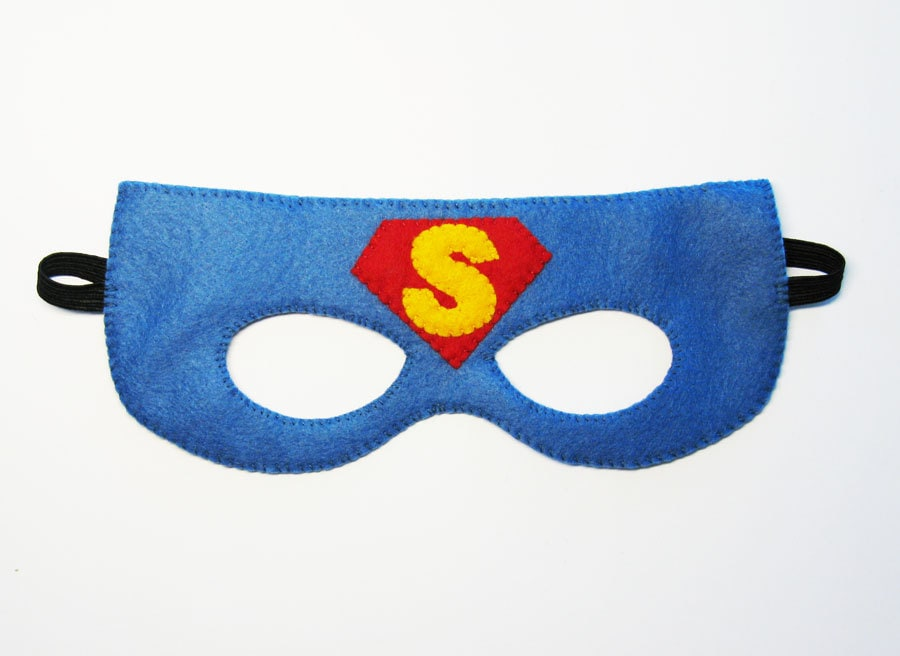 Masque de feutre superman 2 10 ans bleu rouge jaune - Masque de superman ...