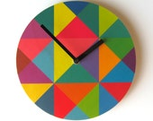 Objectify Grid Plywood Wall Clock - Large