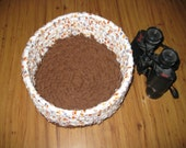 Brown Paw Print Basket, Rag Rope Cloth Basket