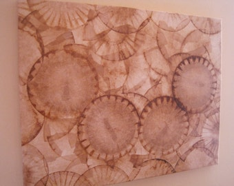COFFEE FILTER ART Canvas Decorative Art Wall Decor Recycled Wall Hanging Ecofriendly