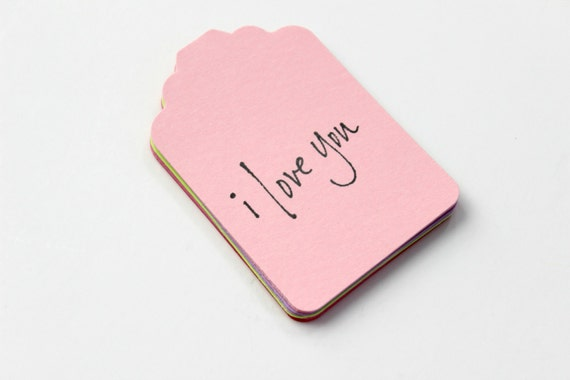 I Love You Tags - Wedding Tags - Valentines Day - Gift Tags - Set of 15