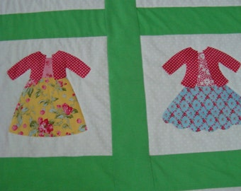 Quilt - Handmade doll dress quilt for that special little girl
