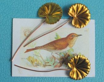 Stamped Brass Lily Leaf (3 pc)