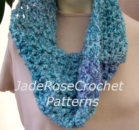 Crochet Scarf Pattern Easy Quick : Crochet Scarf Pattern Quick Crochet Scarf Easy Cowl Pattern