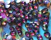 Vitrial Medium Rivolis 8mm (8)- Faceted Glass, Rainbow Jewel, Rhinestone Chatons