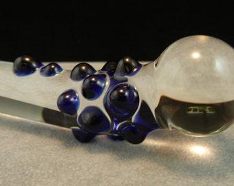 Glass Dildo MINI MEDIUM Pocket Mature Sex Toy Massager Blue (35)