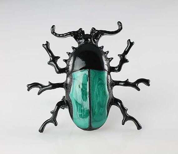 Vintage enamel Bug Insect brooch