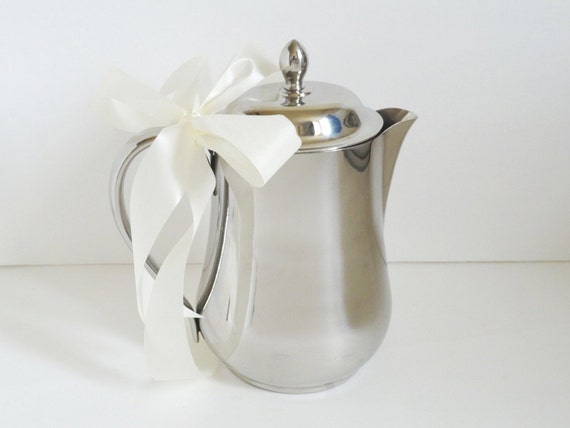 Sant Andrea Italy Stainless Steel Pitcher Coffee Pot 64 ozs