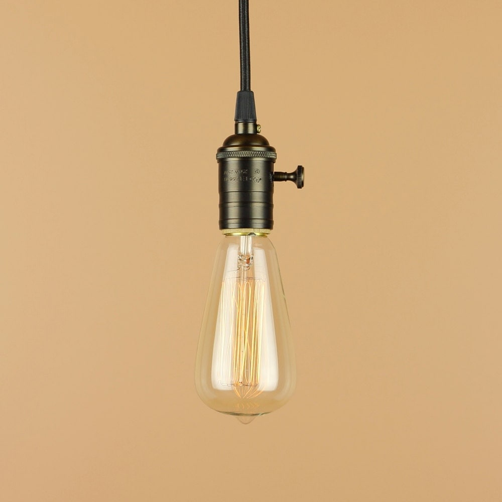 Vintage And Industrial Lighting From Etsy: Industrial Pendant Light Antique Reproduction Cloth Wire