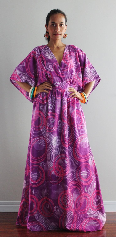 Boho Kimono Dress Women Kaftan Maxi Dress  Boho by Nuichan
