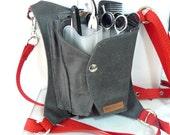 Unisex hairdresser belt tool bag / Hairdresser holster/ Hair stylist apron / Hairdresser gift