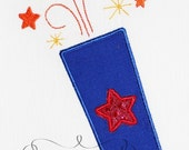4th of July Simple Firecracker Design Applique