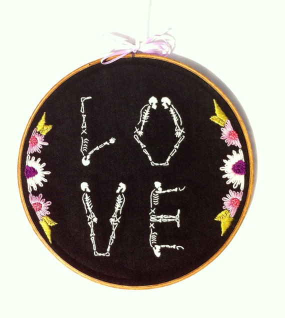 Pretty Things - Embroided Skeleton Letters