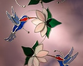 Hummingbirds with Flowers  (311)