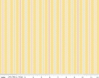 SALE - Vintage Baby - Stripe Yellow from Riley Blake