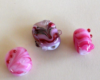 Glasswork Beads - Destash - Pink, Lilac, Purple