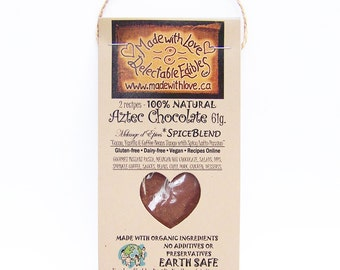 2 oz Aztec Chocolate Artisan Spice Blend Gourmet Chili Chocolate Raw Cacao Gluten/Dairy Free Vegan Mole Spice Mix Mexican Hot Chocolate Mix