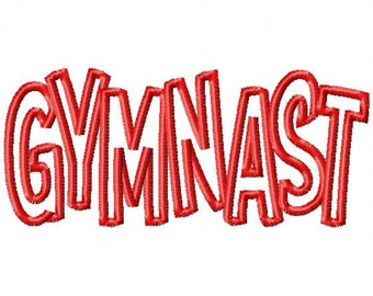 GYMNAST - Applique - Machine Embroidery Design - 13 sizes