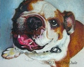 "Custom Pet Portraits - Original Miniatures  in Color Pencil -  4"" x 6"" or 5""x 5"" - Personal Gift for Pet Lovers"