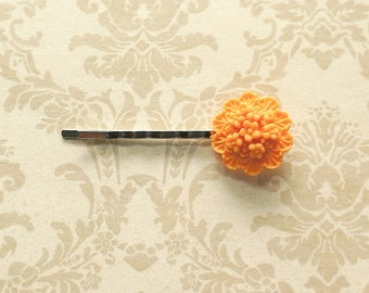 Orange Flowers- Bobby Pin