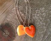 Wear Your Heart Earrings - Orange