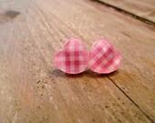 HEART STUDS - Pink Picnic