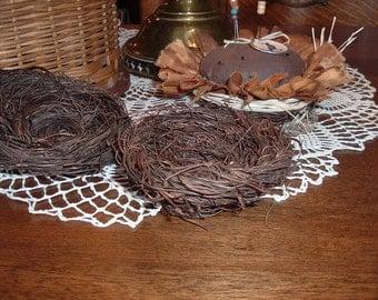 """Four 4"""" Angel Vine Nests Crafts Wedding Rustic Primitive Natural"""