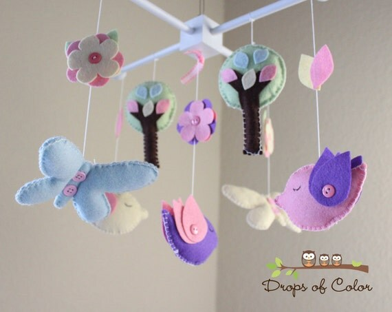 "Ready to Go - Baby Crib Mobile - Baby Mobile -Decorative Baby Nursery Mobile - ""Let's Fly Away"" Design AS IS"
