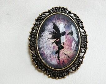 Fairy Victorian Pendant Charm Purple