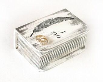 Ring Bearer Box with Pillow  White Wedding Box, Ring Bearer Box Wedding box I Do Personalized Ring Bearer  box, ohtteam