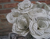 Book Rose Bouquet. Perfect for First Anniversary, Weddings, Birthdays. Unique Gift. CUSTOM ORDERS WELCOME.