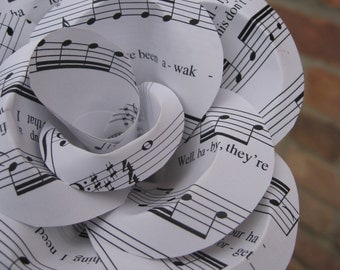 Popular items for music paper rose on etsy for Paper roses sheet music free