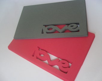 """50 """"Love"""" Tags. 5 Inch. Your CHOICE of Colors. Wedding, Favor, Escort, Wishing Tree, Gifts, Place Cards. Any Color Possible."""