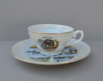 Vintage San Francisco Souvenir Cup and Saucer