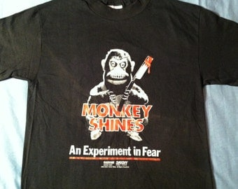 Vintage original 1980's Monkey Shines horror movie t-shirt, small