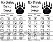 Existing Bunco Score Card w/some modifications