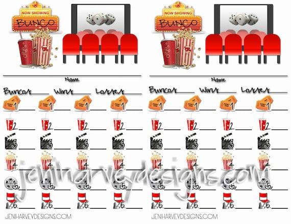 Bunco Score Card and Table Score Sheet – Bunco Score Sheets Template