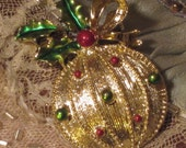 Vintage Brooch Gerry's Christmas Ornament