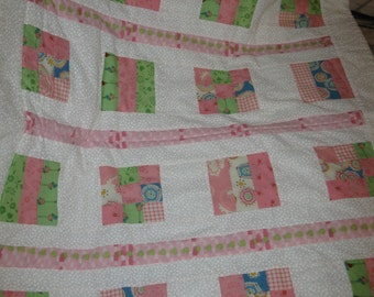 SALE - Quilted Baby Quilt