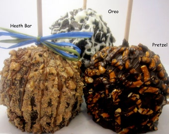 Chocolate Covered Caramel Apples - 3 pack