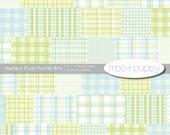 Easter Digital Scrapbook Paper  -  Madras Plaid Easter Boy -- INSTANT DOWNLOAD