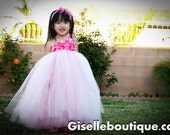 Reserved listing fotr Lisa: 3 Light Pink with hot pink underlayer TuTu Dress.in size 3t, 3t, and 6 with headbands