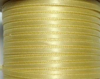 "1/8"" Satin Ribbon - Baby Maize - Whole Spool - 100 yds"