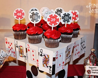 GAME NIGHT Collection - for Birthday, Bachelor, Casino Night, Bunco, etc - Customized DIY Printable Coordinating Design Accessories