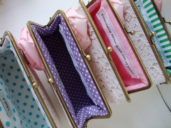 Custom personalized  Message Labels  Tag for your 4 clutches