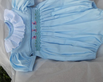Size 18 Months Baby Blue Girl Bubble