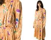 Long sleeve silk slouchy dress size medium