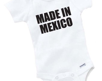 Made In Mexico Onesie Bodysuit Baby Shower Gift Funny Geek Nerd Cute