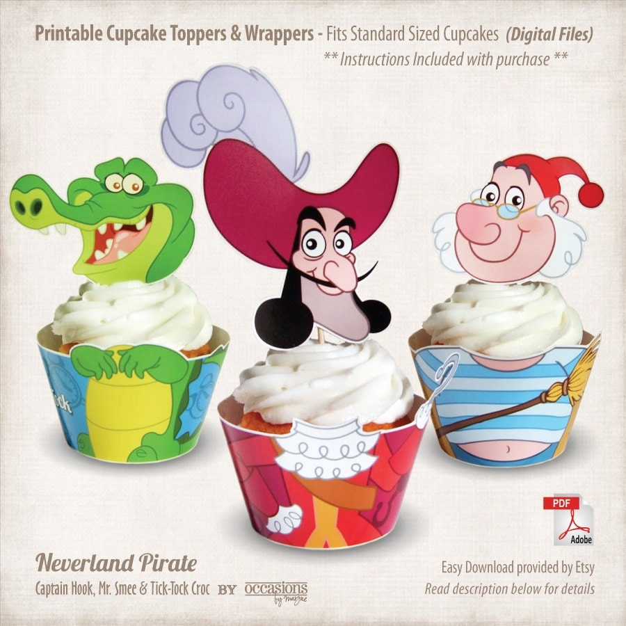 Jake and the neverland pirates cupcake wrappers