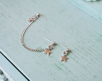 Star Cartilage Ear Chain Cartilage Earrings